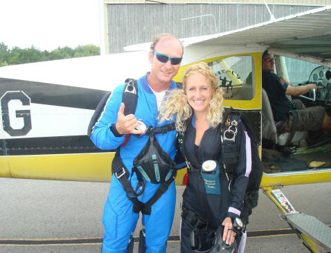 Me and Dennis fixing to jump together!