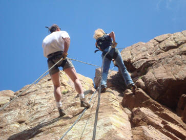 Rapelling with Dennis!